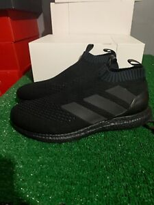 premium selection 7745c cc7c5 Details about ADIDAS ACE 16+ PURECONTROL ULTRABOOST TRIPLE BLACK SZ 9.5  BY9088 BECKHAM MANIA