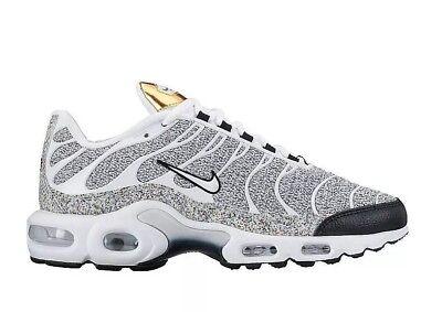 Nike air max plus se 862201 100 Noir Blanc Taille UK 4 EU 37.5 US 6.5 NEW | eBay