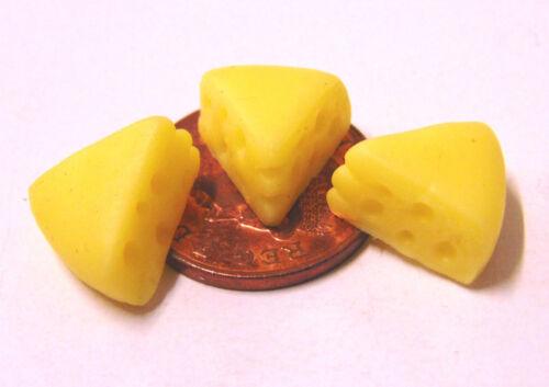 Escala 1:12 de 3 rebanadas de queso suizo tumdee Miniaturas Casa De Muñecas Accesorio de leche