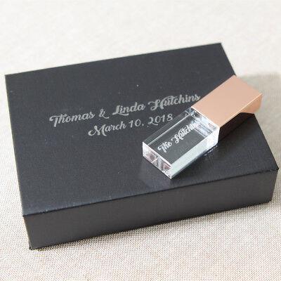 Crystal USB 2.0 Flash Drive Customized Logo Inside Studio Gift Photography Gift