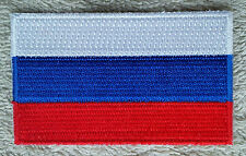 RUSSIA FLAG PATCH Embroidered Badge Iron Sew on 4.5cm x 6cm Россия Rossiya NEW
