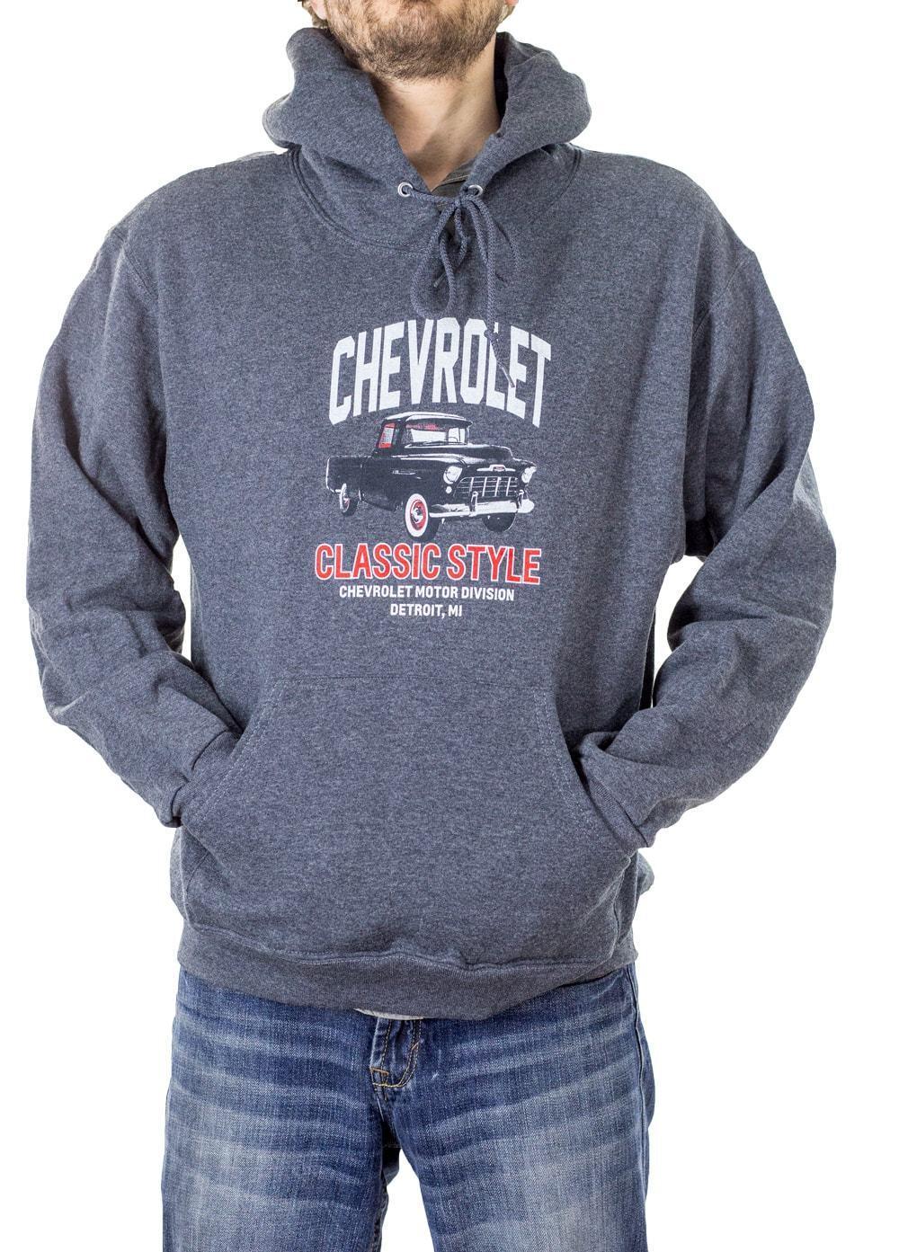 Chevrolet Classic Stlye Heather Hoodie Sweatshirt