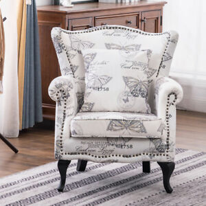 Recliner Armchair Sofa Wing Back Fabric Fireside Lounge