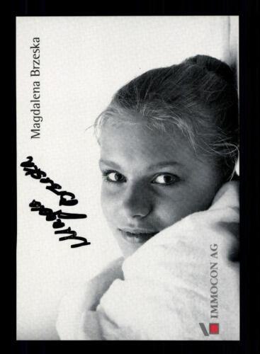 Magdalena Brzeska Autogrammkarte Original Signiert Turnen A 151426