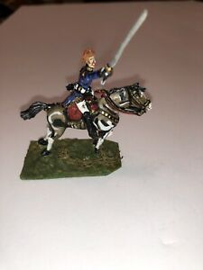 French-Cavalier-Lead-Soldier-Blue-Uniform-Mounted-On-Horse-Back-2-Long-2-25-H