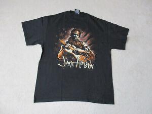 NEW-Jimi-Hendrix-Concert-Shirt-Adult-Large-Black-Brown-Rock-Music-Tour-Band-Mens