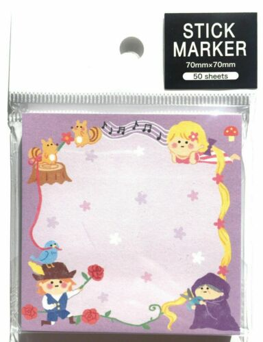 Love Cute Kawaii Fairy Tale Girl Sticky Note Stick Marker Memo Pad MADE IN JAPAN