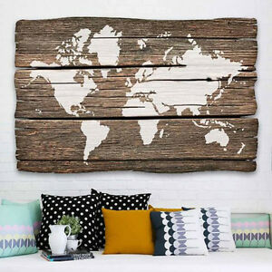 Image Is Loading World Map Wall Art Stencil Diy Home Decor