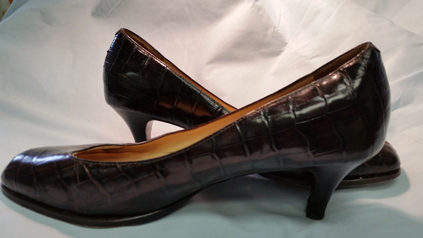 COLE HAAN Brown Size 7.5 7.5 Size Leather Low Heel Pumps Shoes 7 M 6f73fb