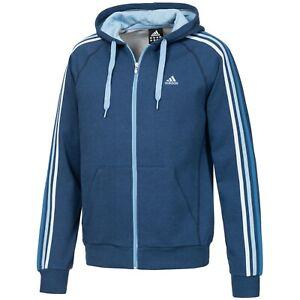 Details zu Adidas ESS Hoody Jacke Herren Kapuzenjacke Kapuzenpullover Firebird Blau XS 3XL