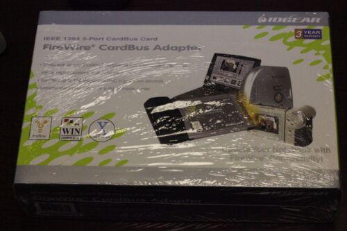 Iogear Firewire Cardbus Adapter 3 Port Cardbus Card Model GPF113 New
