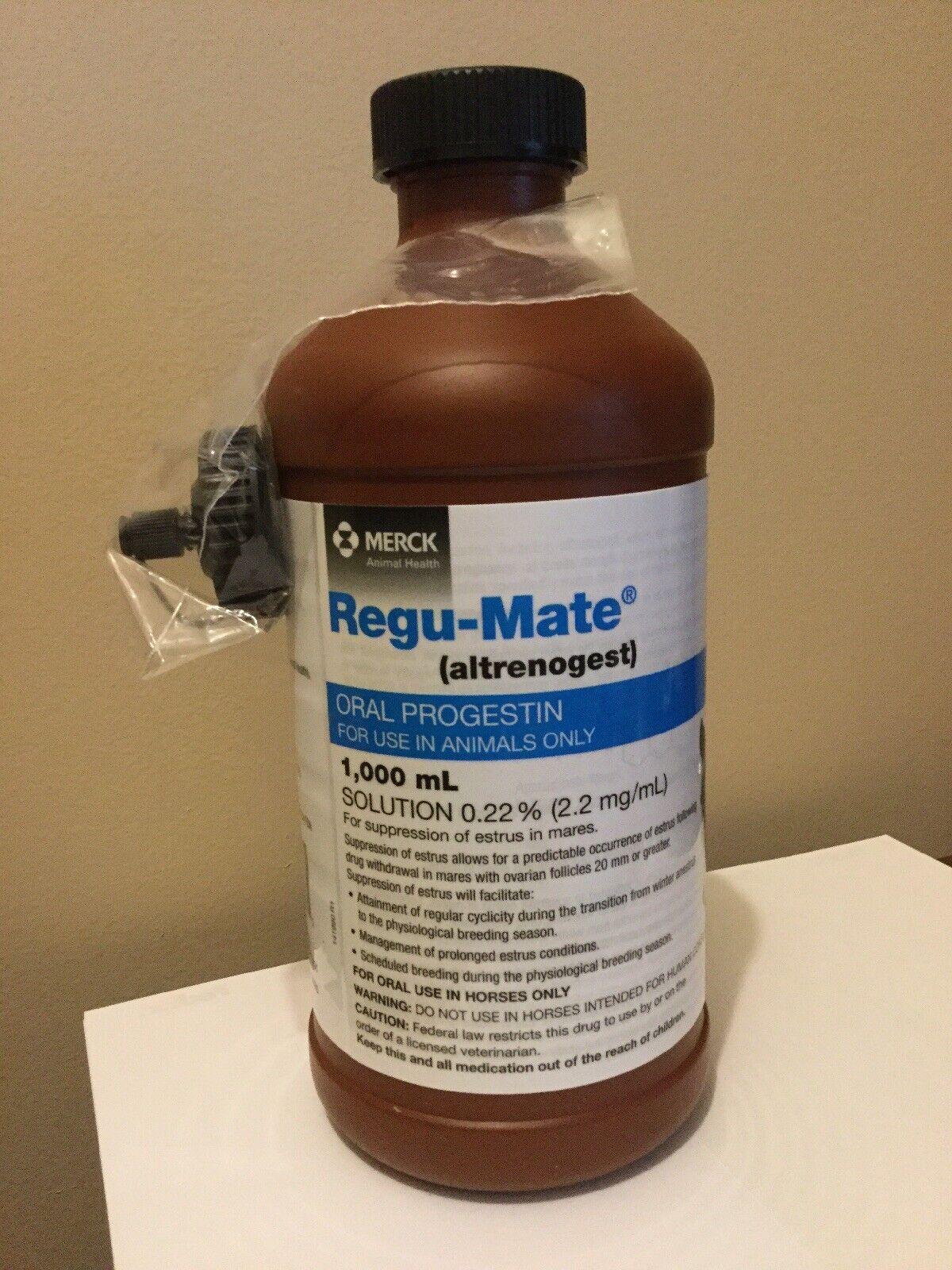 Regumate  Solution (Altrenogest) for Horses 1000   Regu-mate Exp. 5 2021  100% brand new with original quality