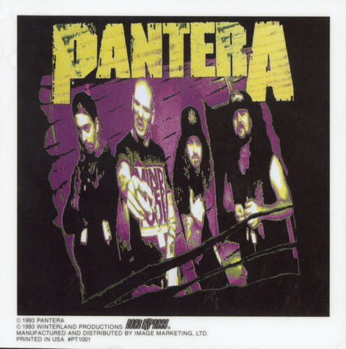 STICKER//DECAL MUSIC BAND 066 PANTERA PURPLE BRAND NEW VINTAGE
