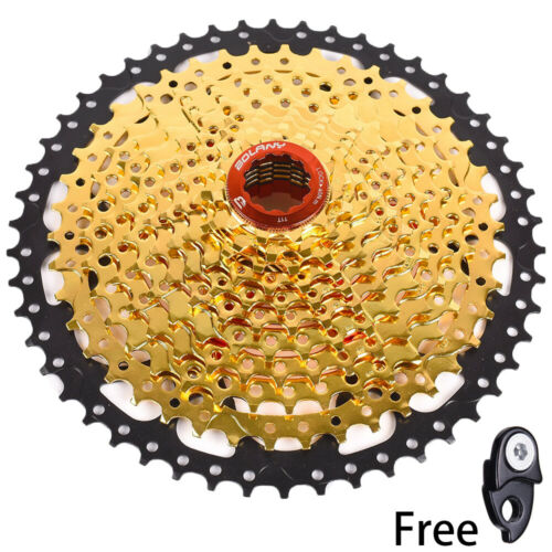 BOLANY MTB Bike 11 Speed 11-50T Cassette Flywheel Gold fit Sram Shimano M8000