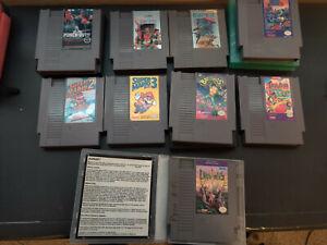 NES-Nintendo-9-GAME-LOT-Tested-S-MARIO-BROS-2-3-CONTRA-Mike-Tyson-mega-man-BA