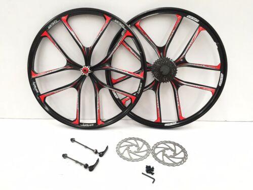 Pair of 27.5 inch 10 spoke magnesium alloy wheel 8S Casette Mountain bike wheels