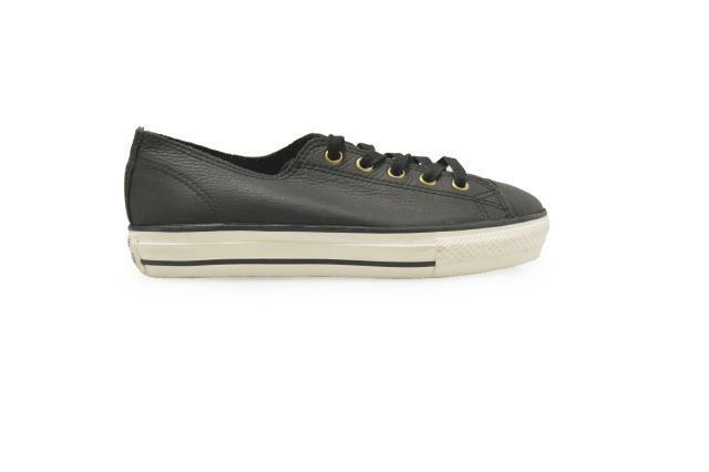 7d2bf388b079 Converse Chuck Taylor All Star High Line Black Leather Mens Casual Shoes  551535C UK 3.5