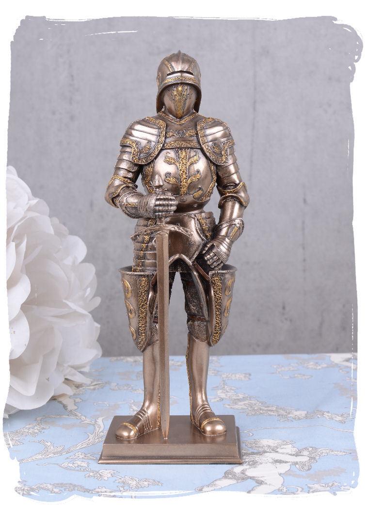 Knight sculpture armor medieval knight warrior figure Veronese sword war statue