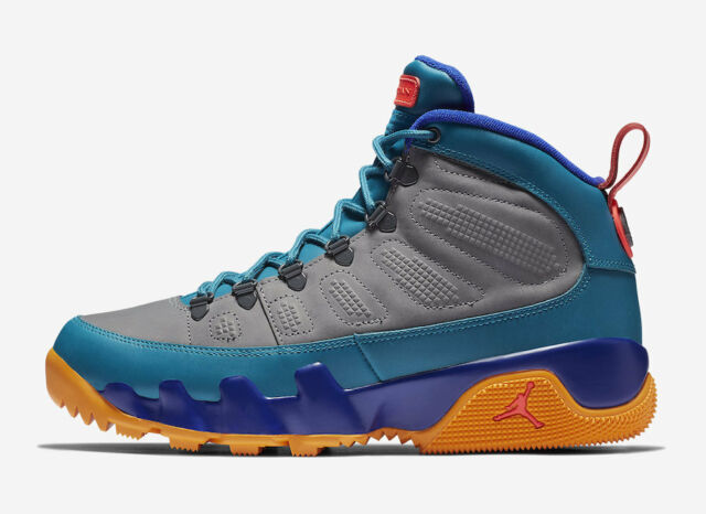 54550b5afb8 2018 Nike Air Jordan 9 IX Retro Boot NRG SZ 8 Green Abyss Multicolor AR4491-