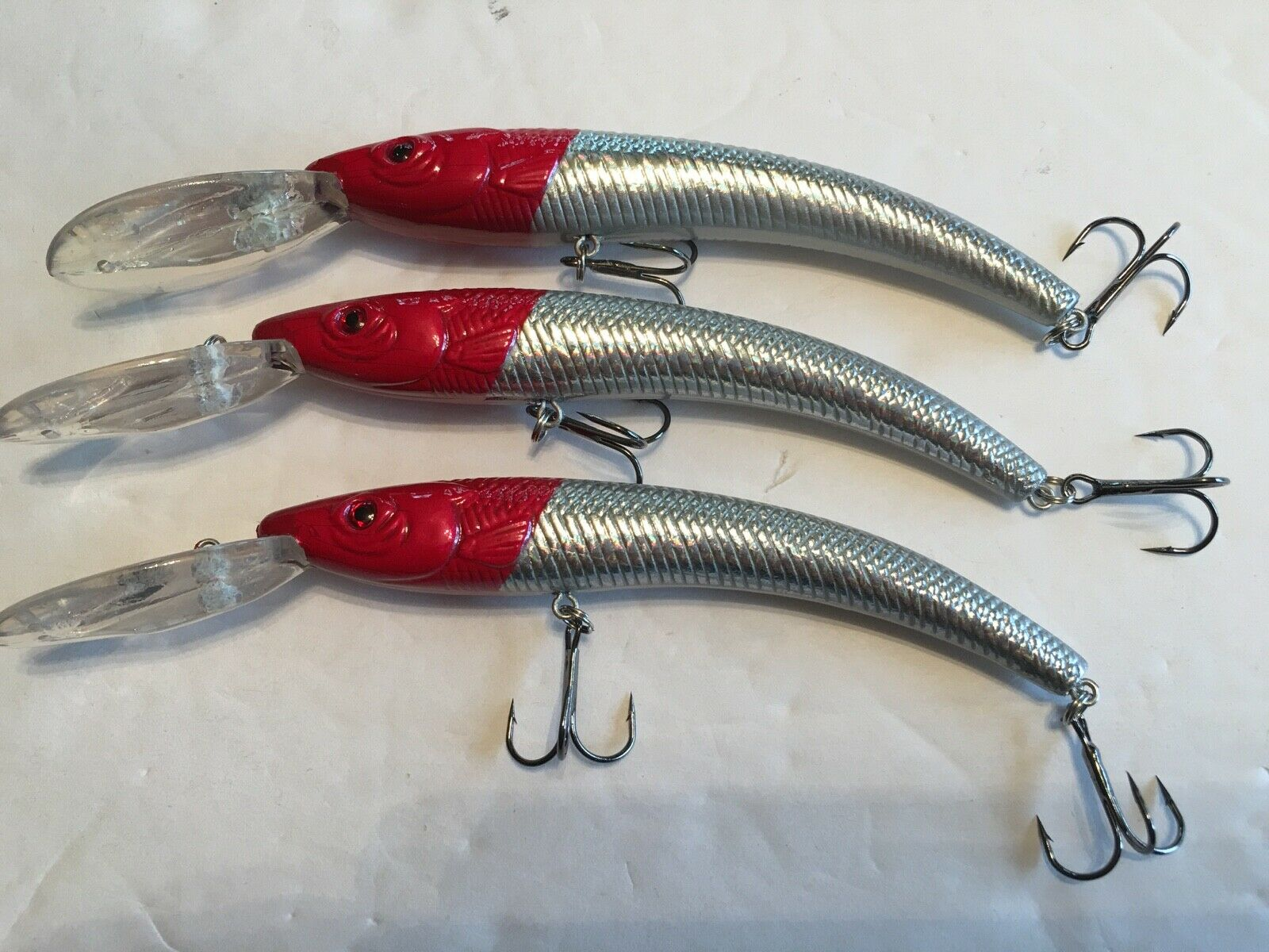 LOT OF 3 REEF RUNNER RIPSTICK STYLE fishing lure deep diver 800 SERIES NEW