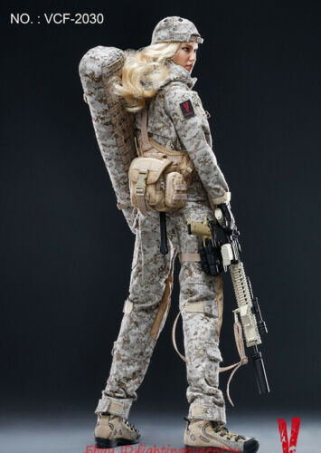 Max Figure Toy INSTOCK VERYCOOL VCF2030 1:6 Digital Camouflage Female Soldier