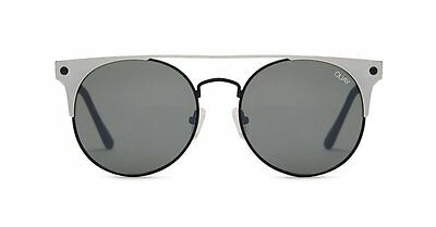"QUAY AUSTRALIA BLACK SILVER/SMOKE ""THE IN CROWD"" SUNGLASSES  NEW"