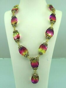 Turkish-Handmade-Jewelry-925-Sterling-Silver-Tourmaline-Stone-Women-Necklace