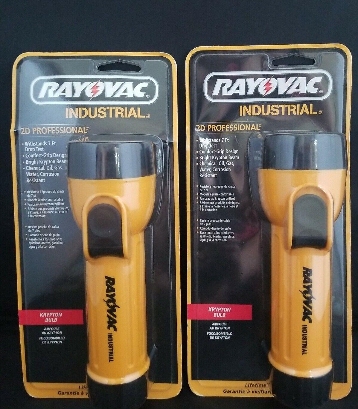 Rayovac industrial 2D Profesional linterna haz de alta intensidad-Lote de 2