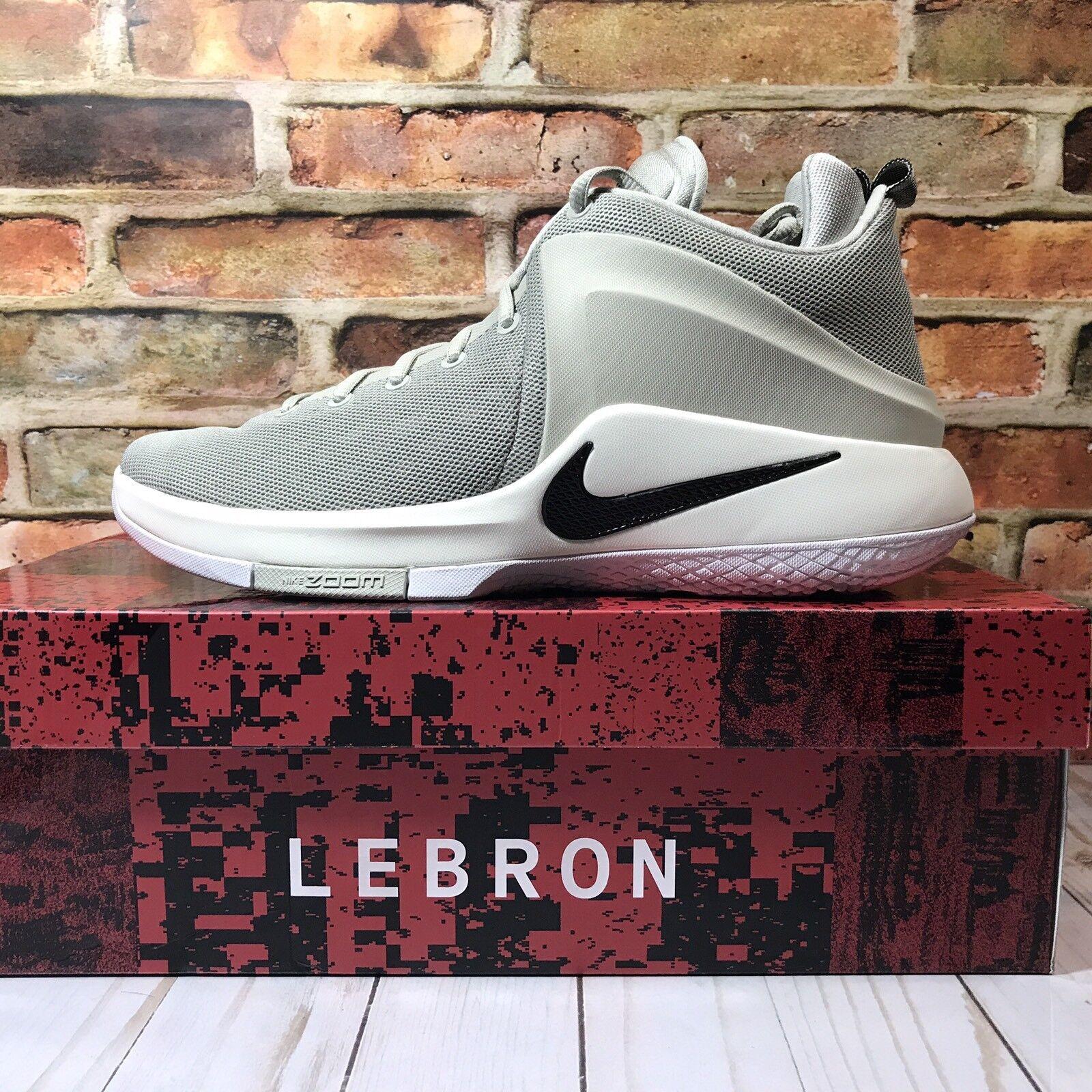 Nike lebron mens zoom zeugen zeugen zoom neue sz - 11 grau - schwarze basketball - schuhe 852439 011 fd32ea