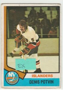 1974-74-75-O-Pee-Chee-195-Denis-Potvin-RC-Rookie-EX