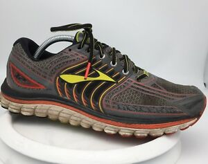 407a19655f0da Brooks Glycerin 14 Men s Silver Red Yellow Running Sneakers Men s ...