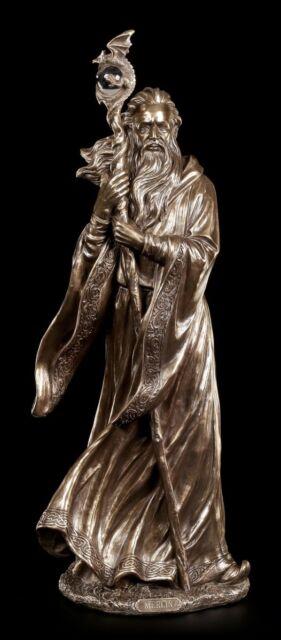 Große Merlin Figur - Veronese Zauberer Magier Fantasy Dekostatue