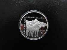 R 2006 Slovakia 500 Korun Muranska Planina Nat. Park Silver Proof Coin PP Slovak