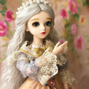 84e283127ef3e7 Details about BJD 1/3 Doll Beauty Girl with Green Eyes Free Face Make Up  Dresses Clothes Gifts