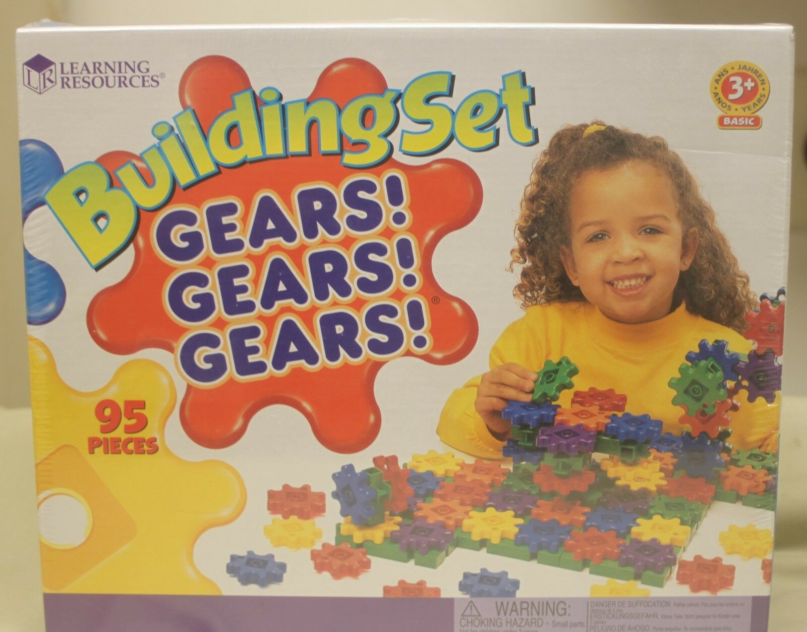 Building Set - Gears Gears Gears Learning Resources 95 Pcs Pcs Pcs (Brand New) 39d3cd