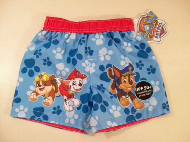 c8d864ba0464c Boy's Paw Patrol Swim Trunks Sz 12 Months Marshall Chase & Rubble ...