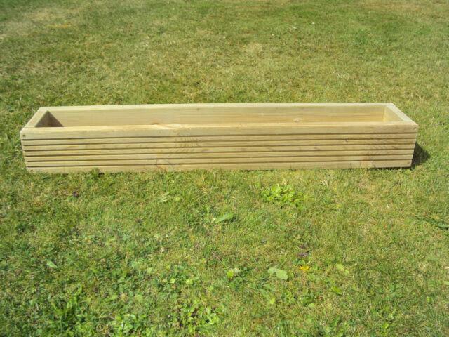 Handmade Wooden Decking Window Box Flower/Herb  Planter