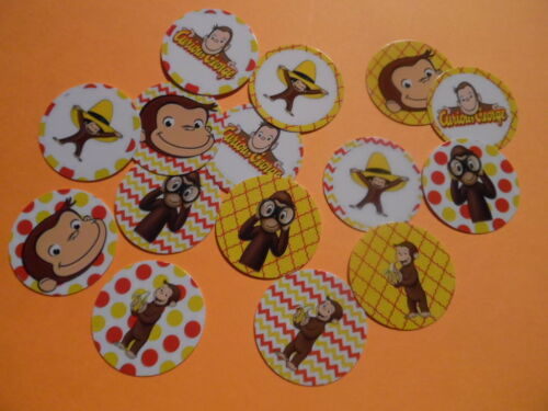 Pre Cut One Inch Bottle Cap Images CURIOUS GEORGE Free Shipping