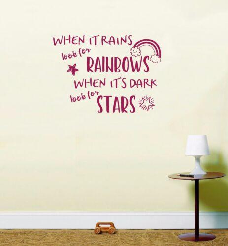 Cuando llueve buscar Rainbows cuando su aspecto oscuro para cotización De Pared Estrellas