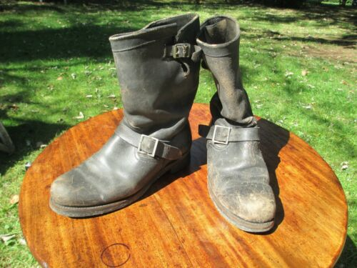 VTG ENGINEER BOOTS Weathered Patina Original Sole