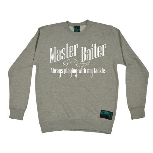 Master Baiter Drowning Worms SWEATSHIRT jumper birthday gift gear funny fishing