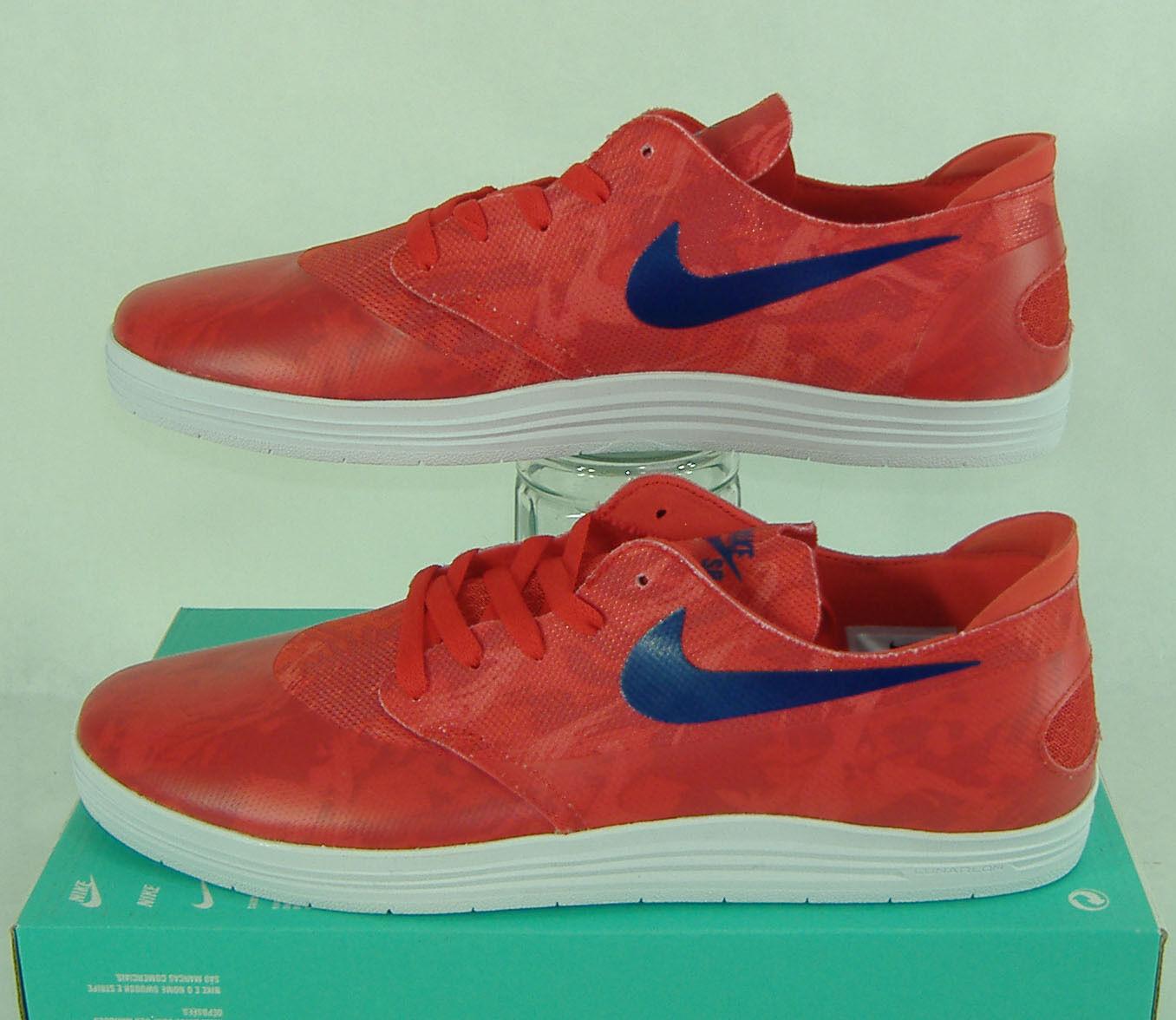 Nuevo Hombre 13 Nike SB Lunar Oneshot SB Zapatos WC Rojo Azul Skate Zapatos SB  2018 645019 604 db0590