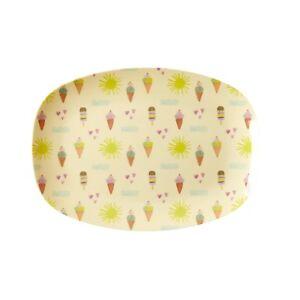 RICE Melamine small rectangular plate in summer print