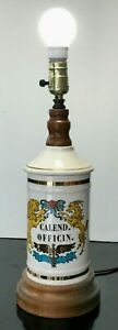 Antique-Apothecary-Jar-Lamp-034-Calend-Officin-034-17-034-Tall-Working-condition