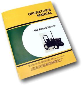 operators manual for john deere 160 rotary mower owners 650 750 lawn rh ebay co uk john deere 650 owners manual John Deere 5065E Tractor Model