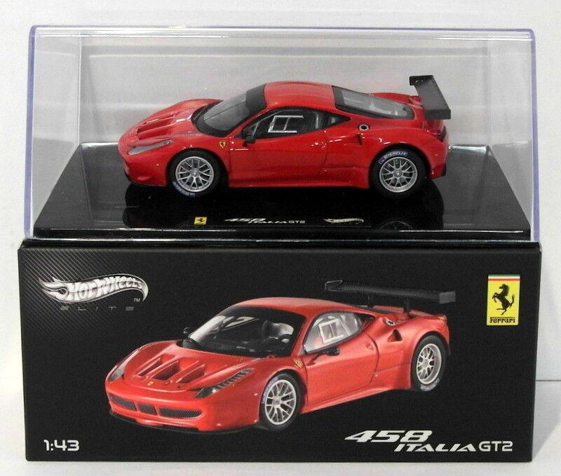 Hot Wheels 1 43 Scale Diecast X2861 - Ferrari 458 Italia GT2 - rot  | Viele Sorten