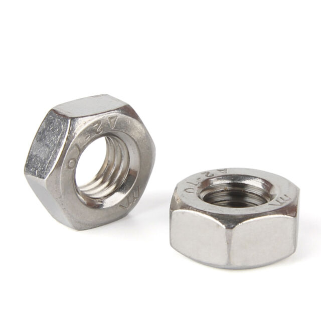 4pcs M24 x 2mm Pitch Metric Fine Thread 304 Stainless Steel Hex Nuts