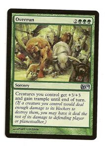 M10 NM Green Uncommon MAGIC GATHERING CARD ABUGames Overrun FOIL Magic 2010