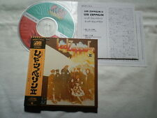 LED ZEPPELIN II MINI CD LP PAPER SLEEVE JAPAN W/OBI WPCR-11612 OOP