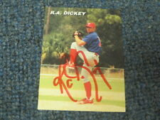 R.A. Dickey Autographed Trading Baseball Card 2